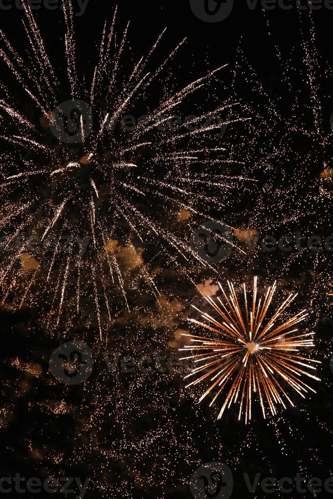 celebração de fogos de artifício foto