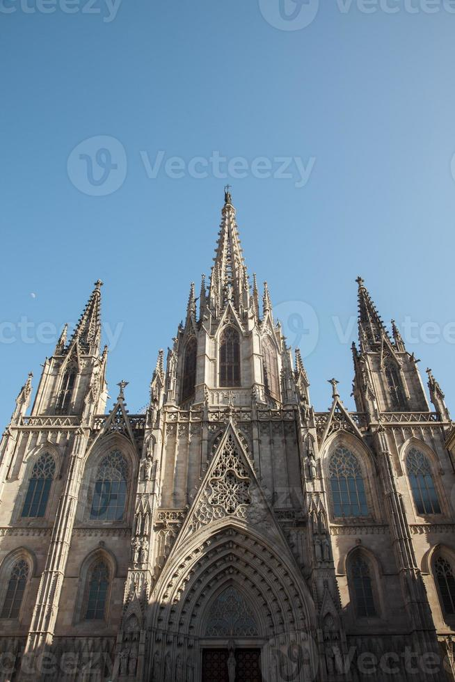 catedral gótica de barcelona foto