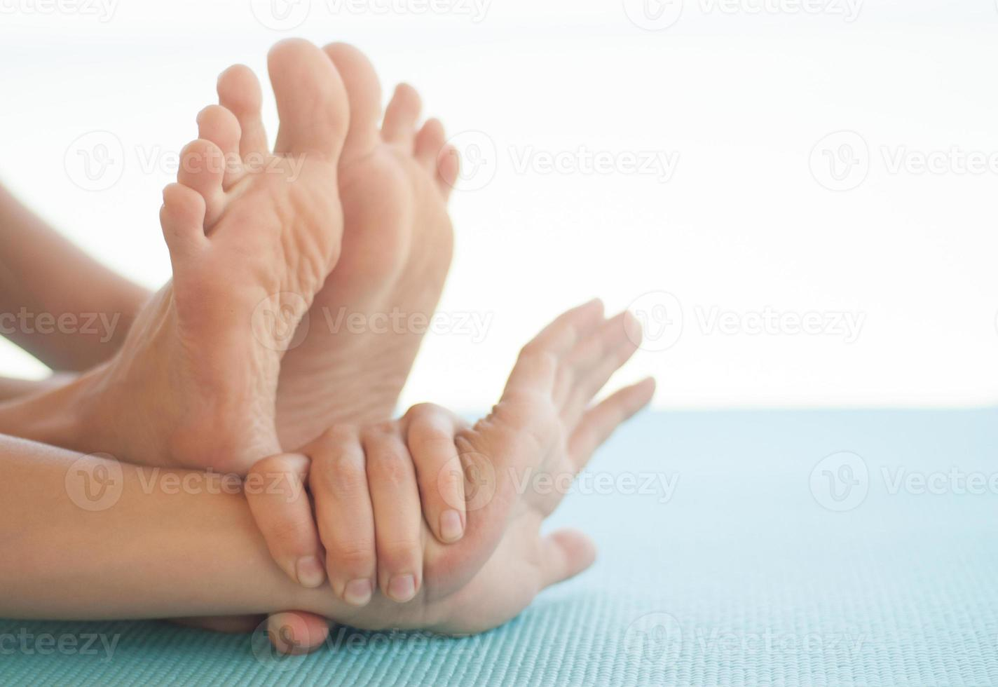 alongamento de ioga foto