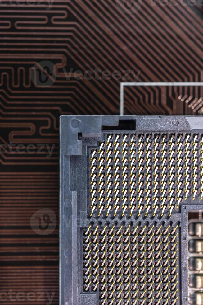 close-up do soquete do computador foto