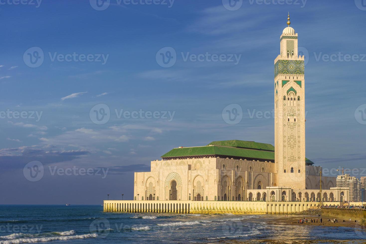 Mesquita hassan ii em casablanca, marrocos foto