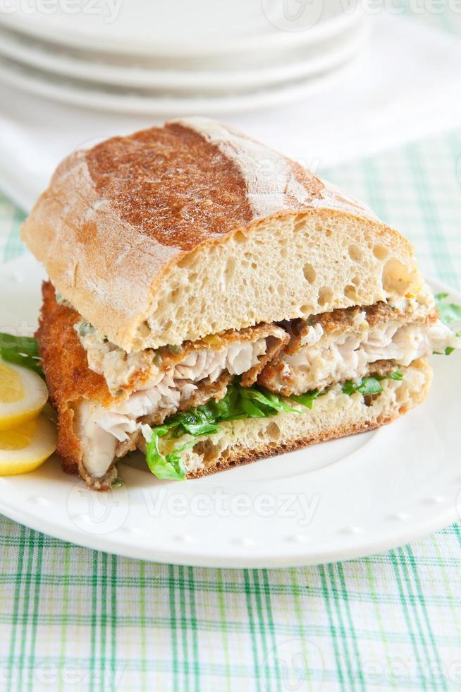 sanduíche de peixe-gato foto
