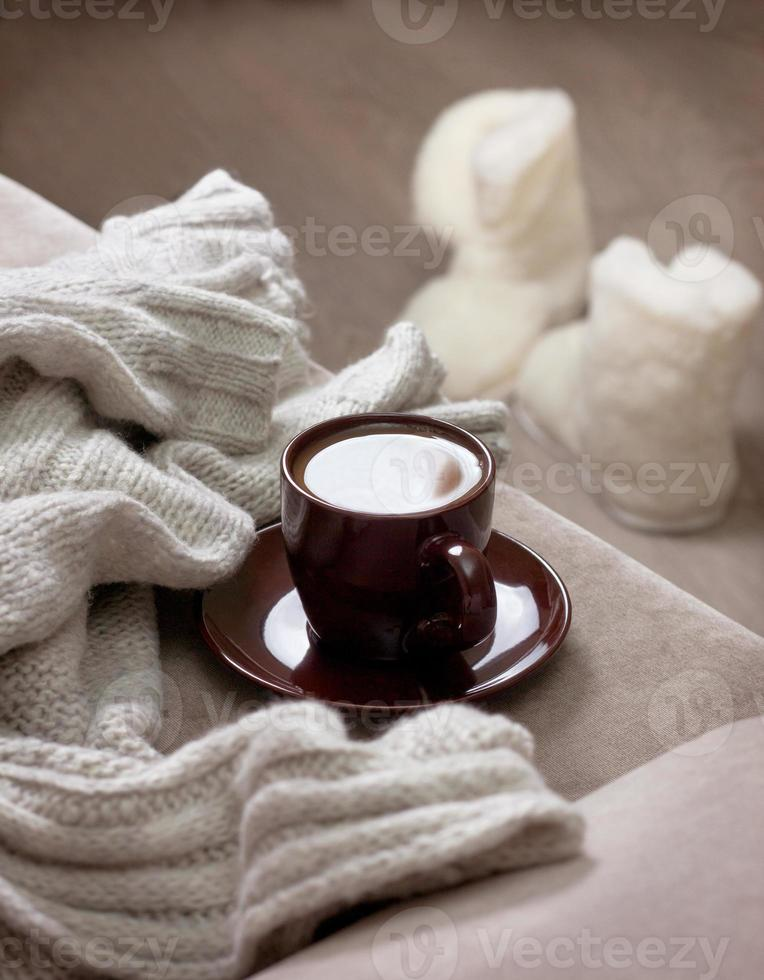 xícara de café de inverno foto