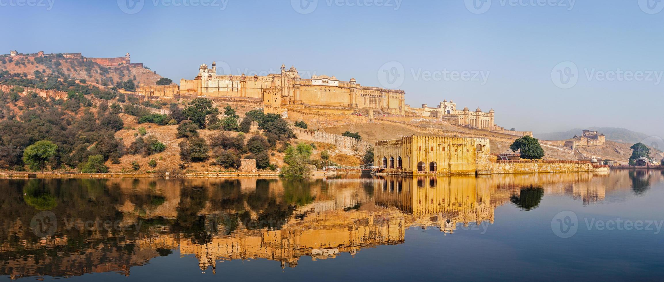 panorama de amer (amber) fort, rajasthan, índia foto