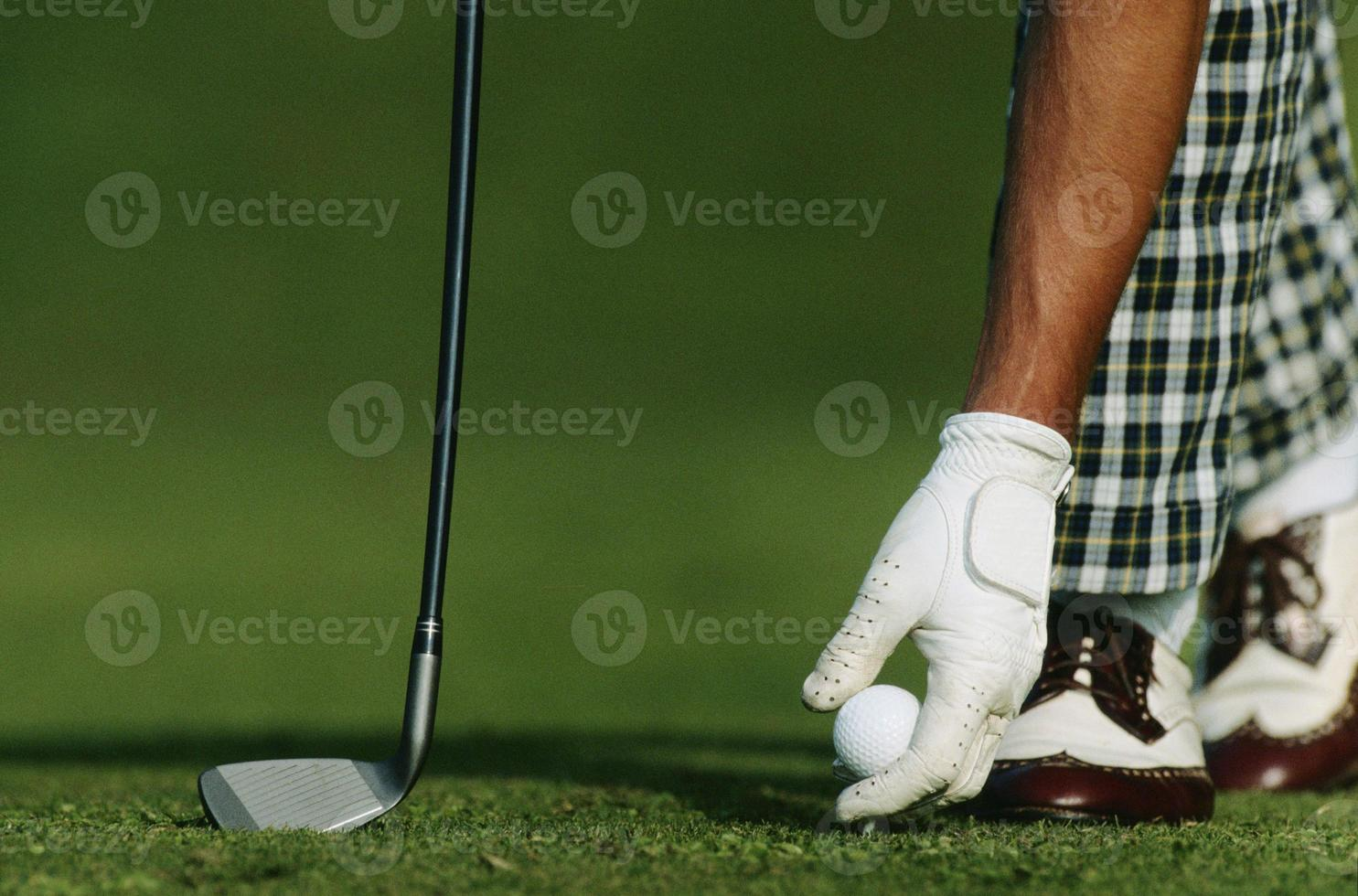 início do jogo de golfe foto
