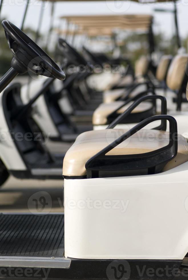 carrinhos de golfe foto