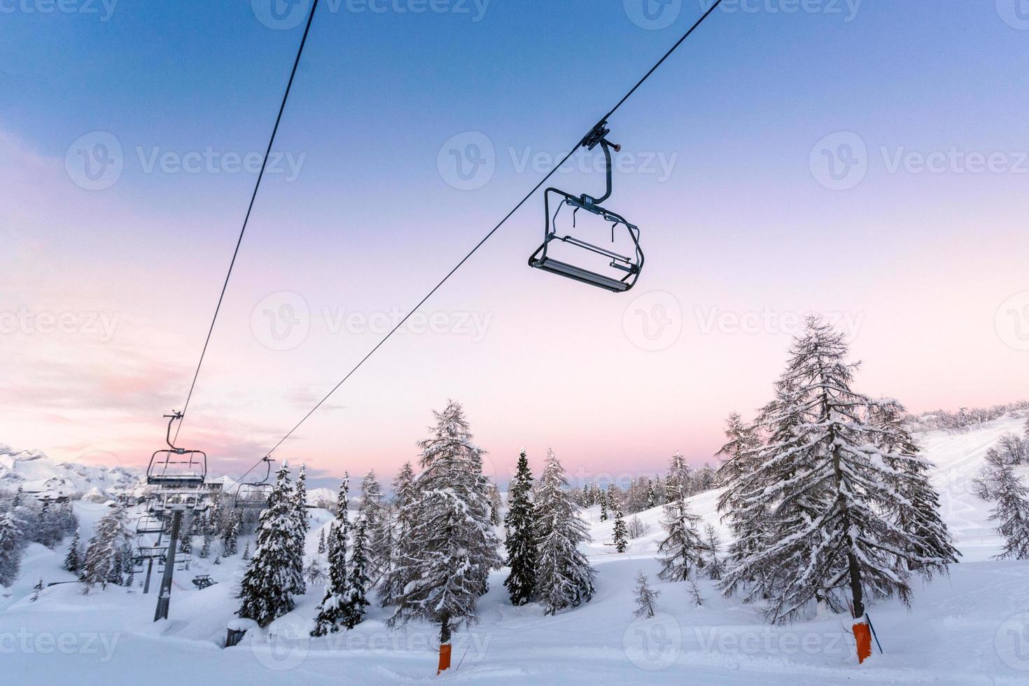 centro de esqui de vogel-eslovênia foto