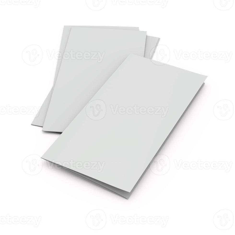 folhetos ou brochuras em branco foto