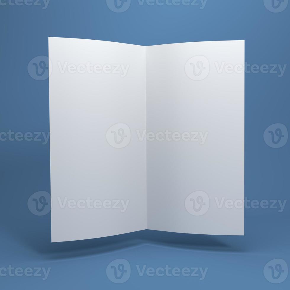 brochura de papel em branco branco foto
