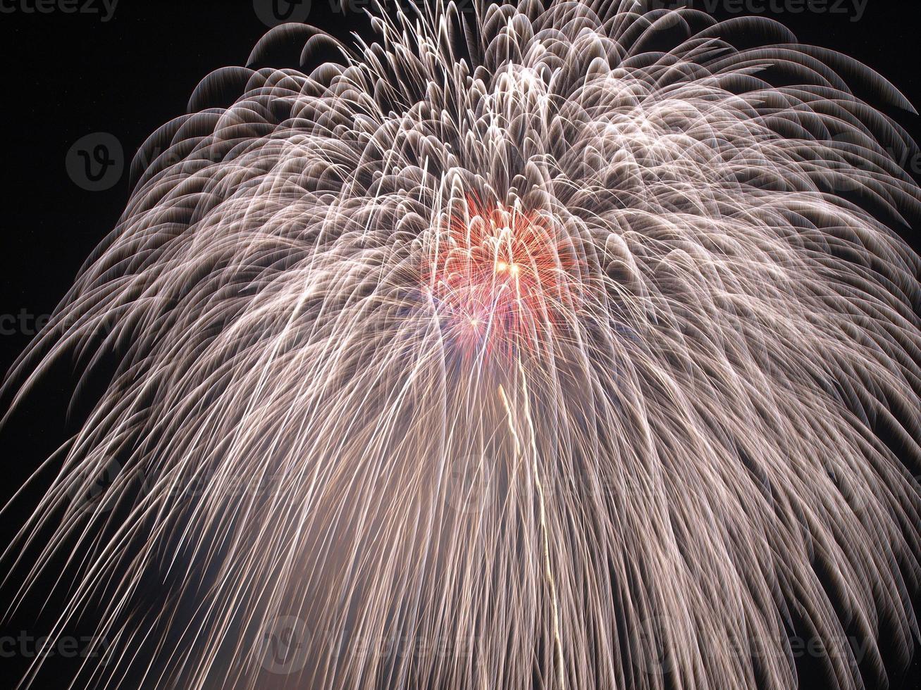 fogos de artifício de shakadogawa foto