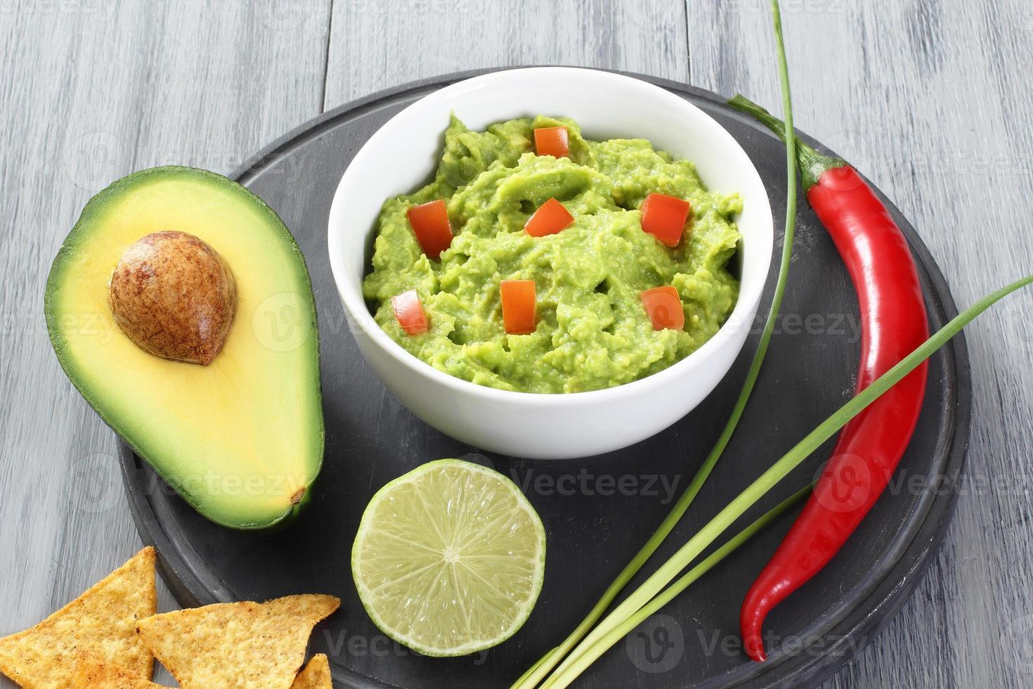 abacate guacamole foto