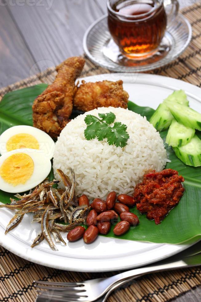 nasi lemak, cozinha malaia foto