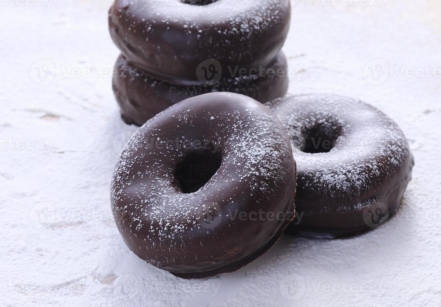 rosquinhas de chocolate foto