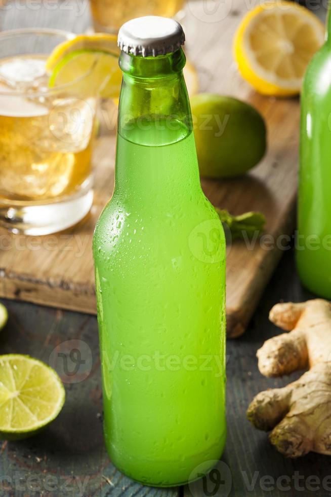 refrigerante de gengibre orgânico foto