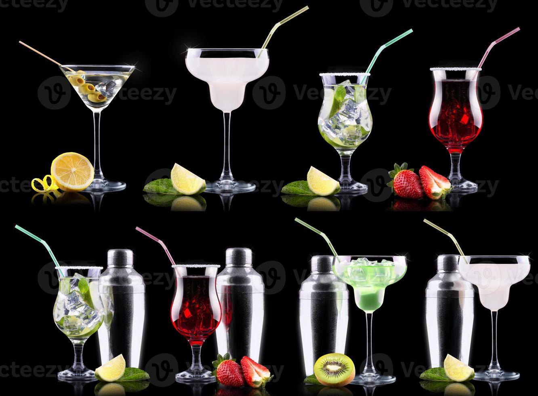 conjunto de coquetel de álcool foto