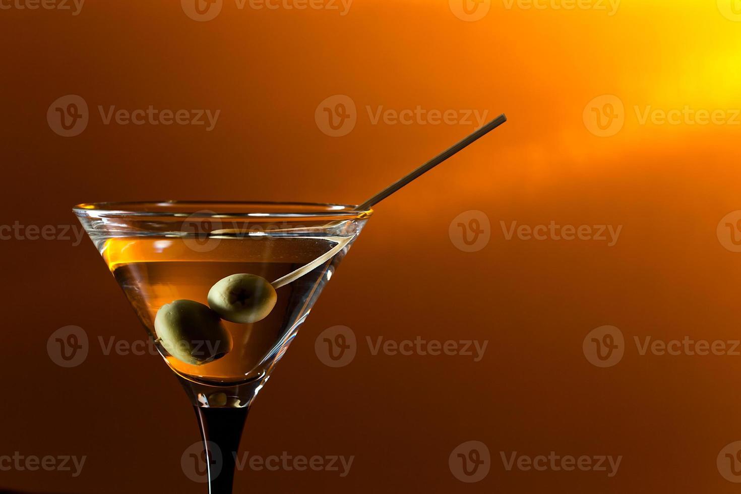 copo com martini foto