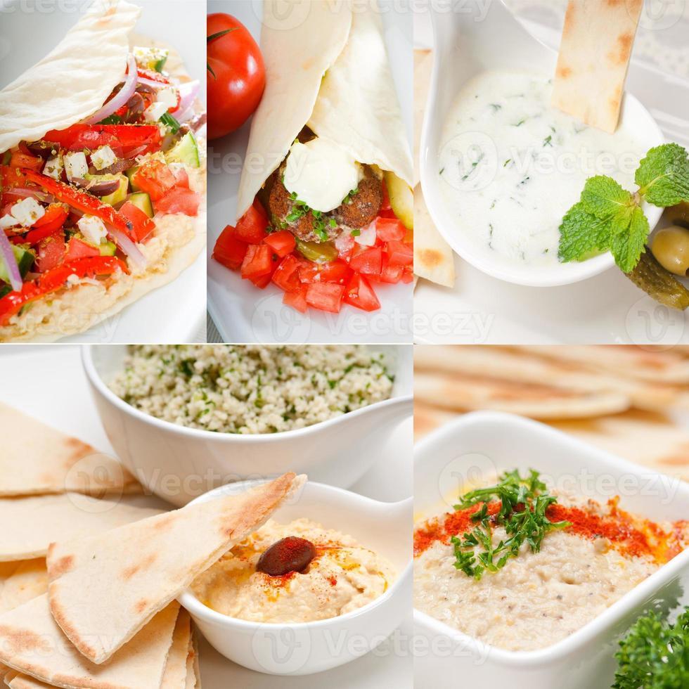 coleção de comida árabe do oriente médio foto