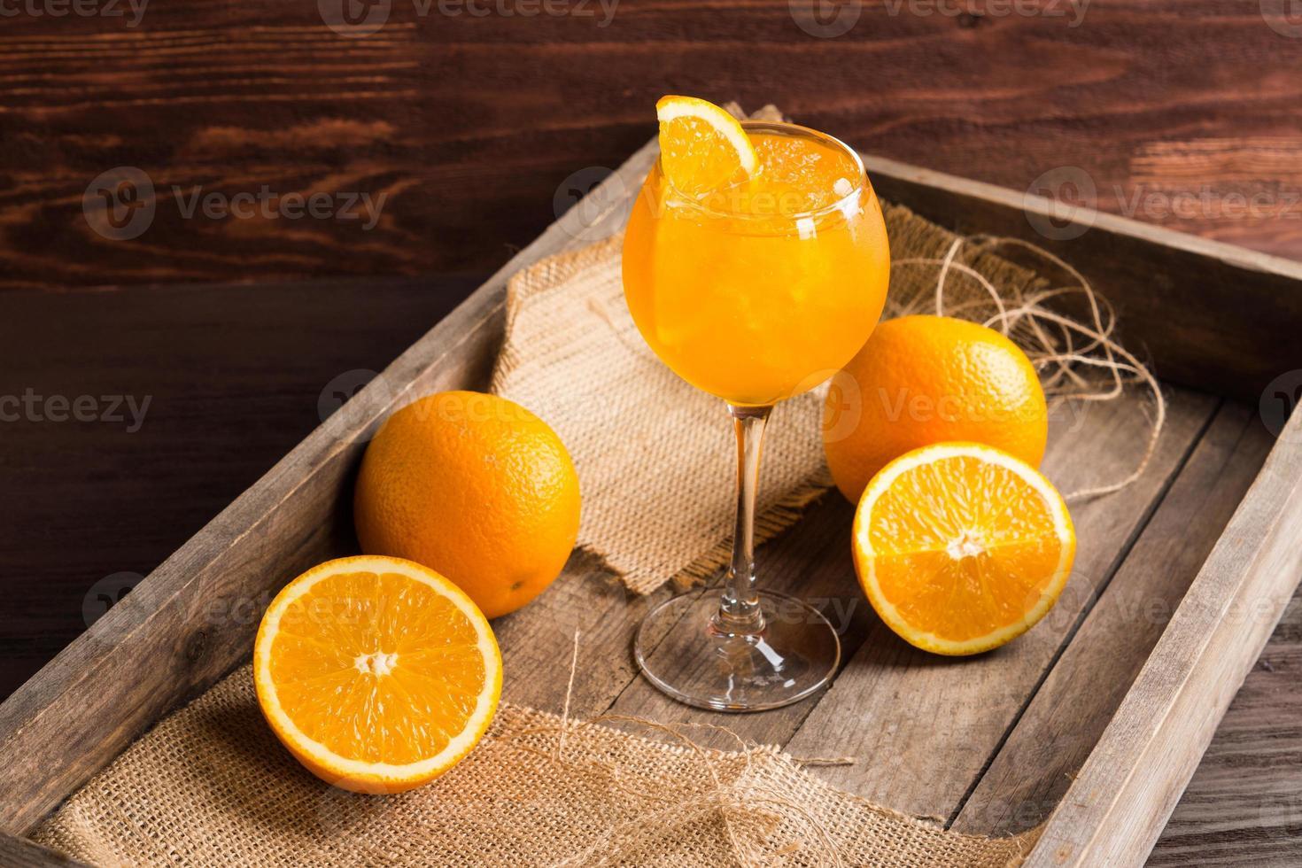 coquetel de laranja foto