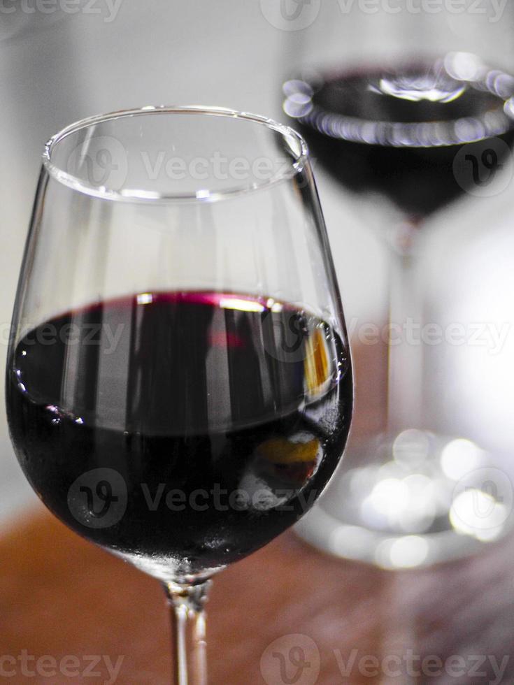 copas de vinho tinto foto