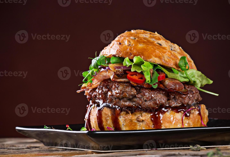 hambúrguer delicioso foto