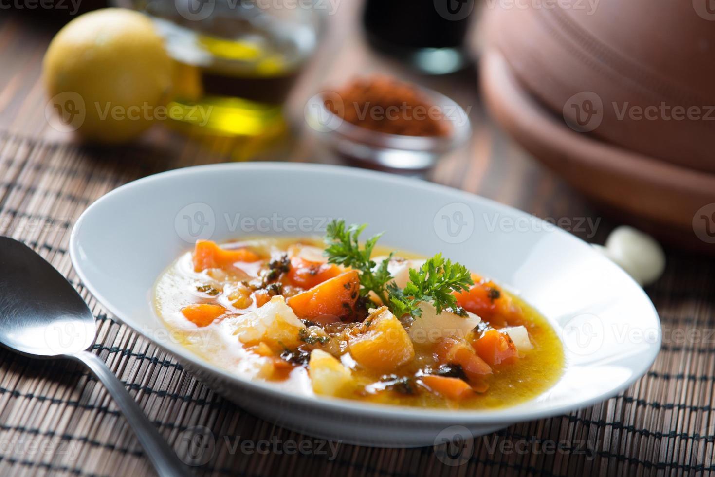 sopa marroquina de abóbora foto