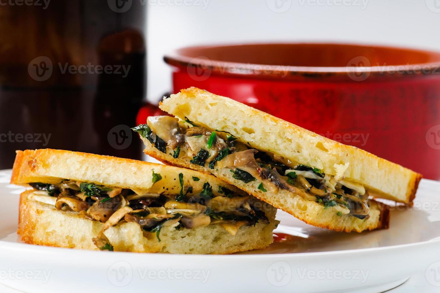 almoço de queijo grelhado foto