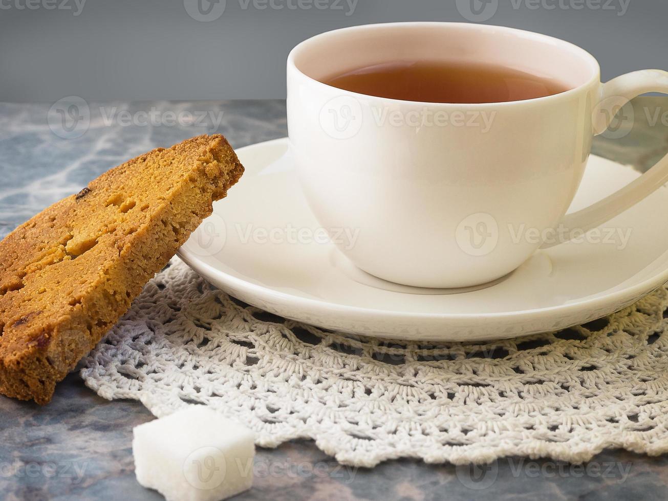 xícara de chá da manhã foto