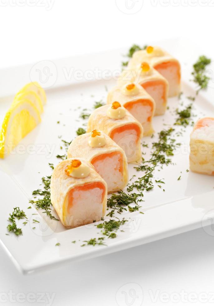 rolo de salmão foto