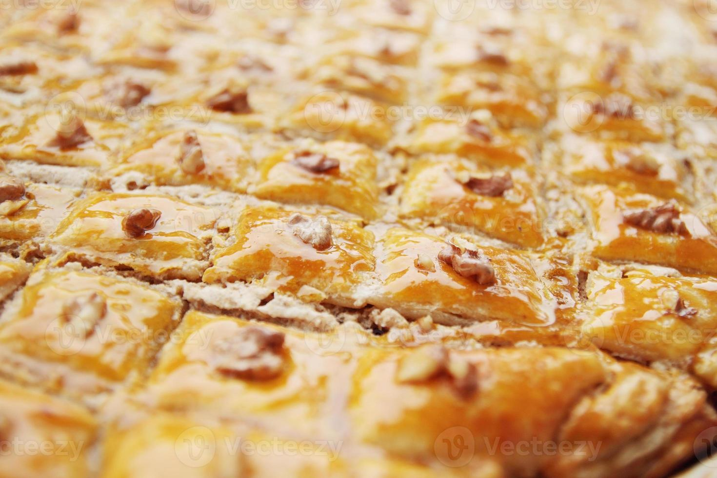 baklava de sobremesa oriental foto