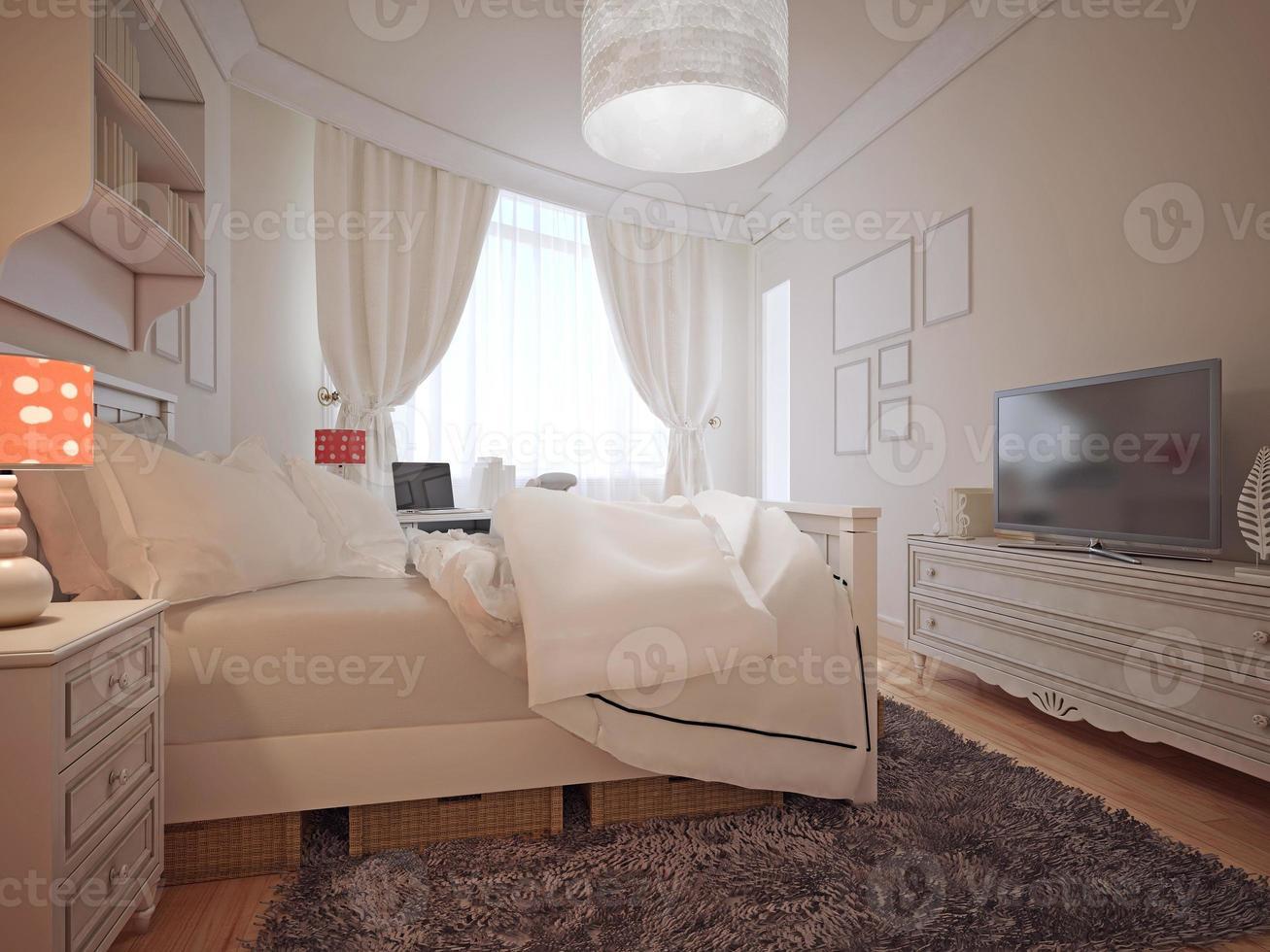 quarto de luxo em estilo mediterrâneo foto