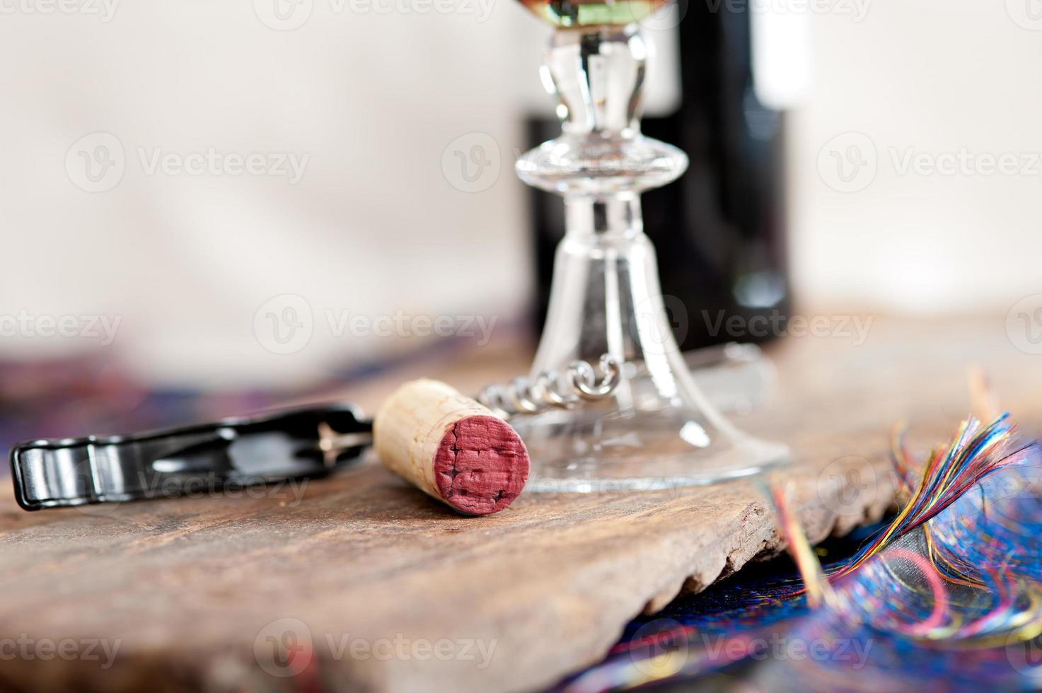 macro de cortiça de vinho tinto foto