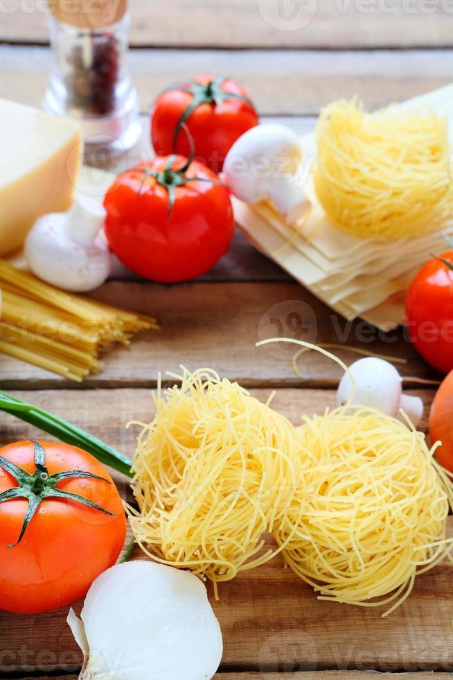 massas e ingredientes foto