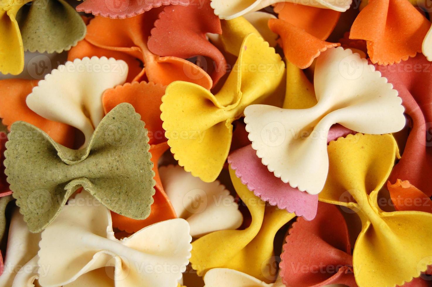 fundo de comida farfalle massas foto