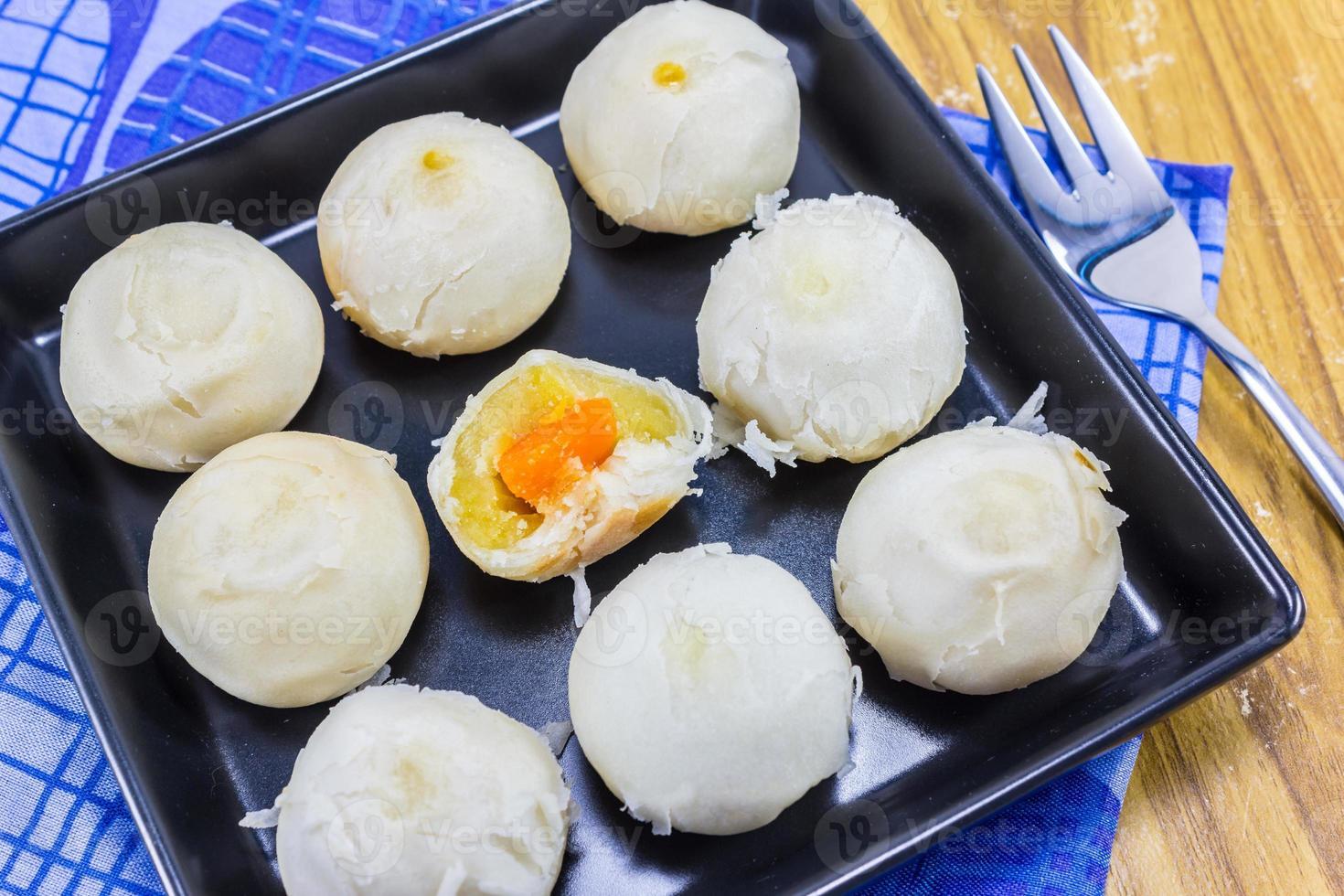 bolo de lua tailandês (sobremesa tailandesa) foto