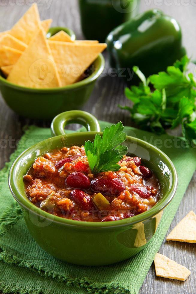 chili com carne mexicana foto
