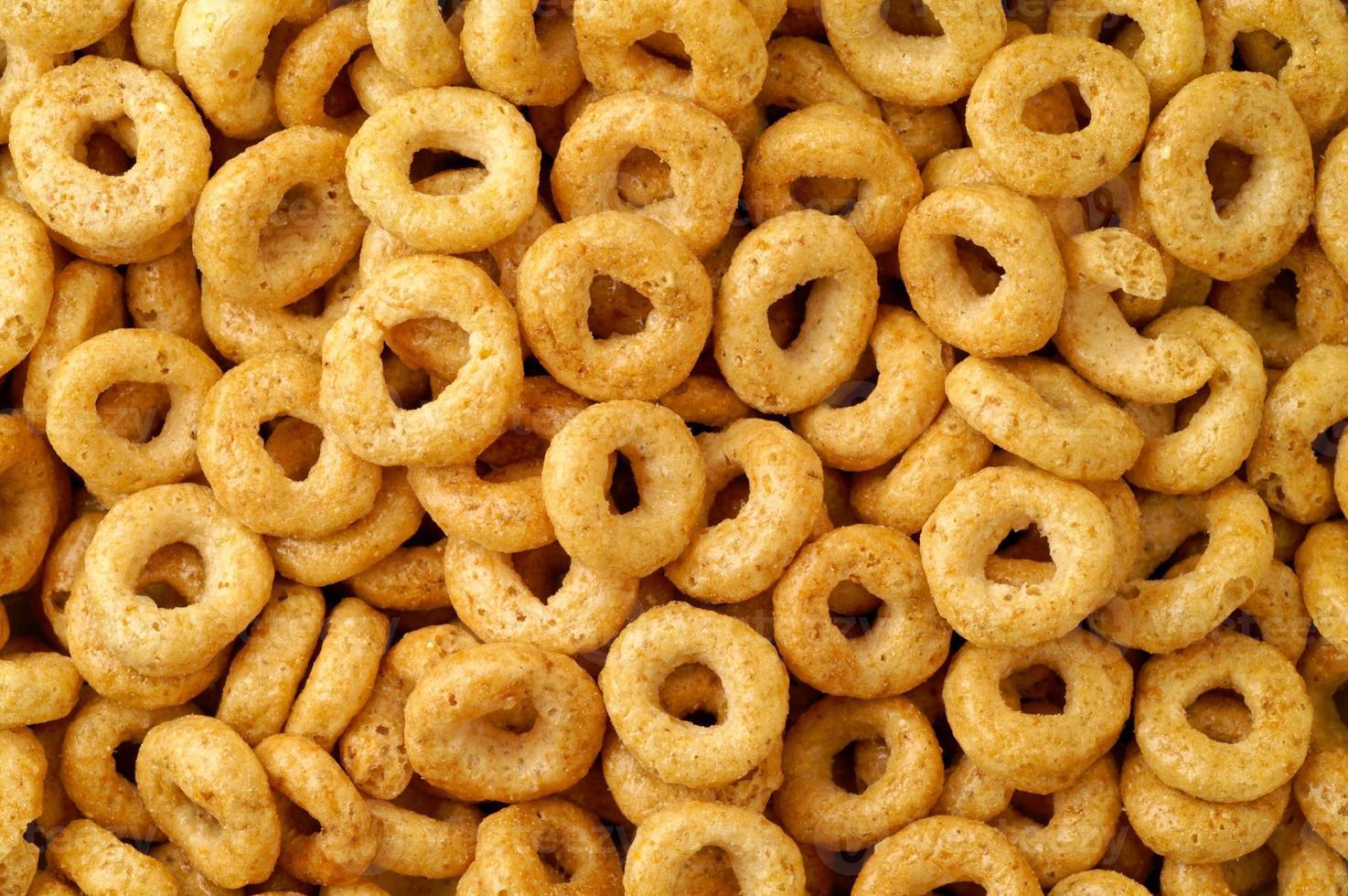 fundo de rosquinhas de cereal foto