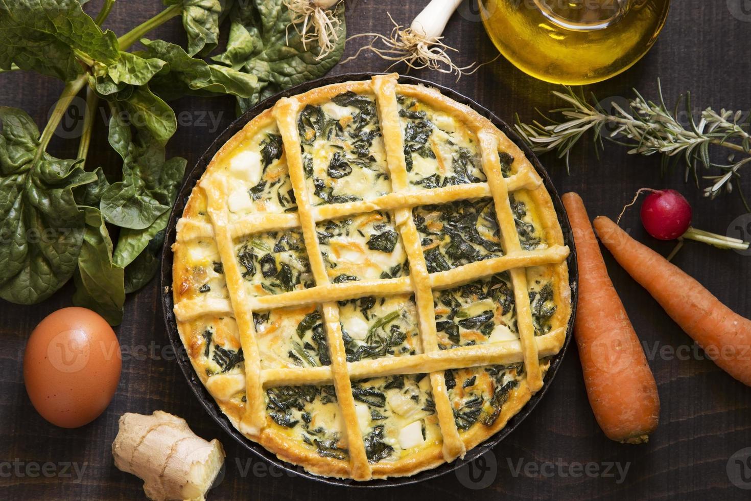 torta vegetariana foto