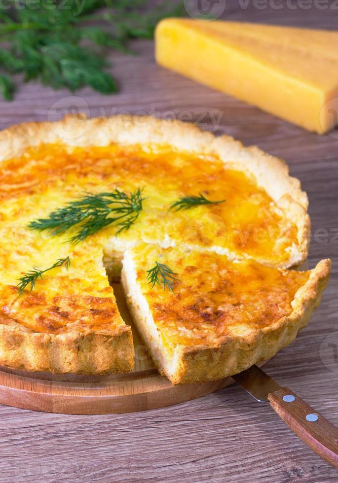 quiche de queijo e erva-doce foto