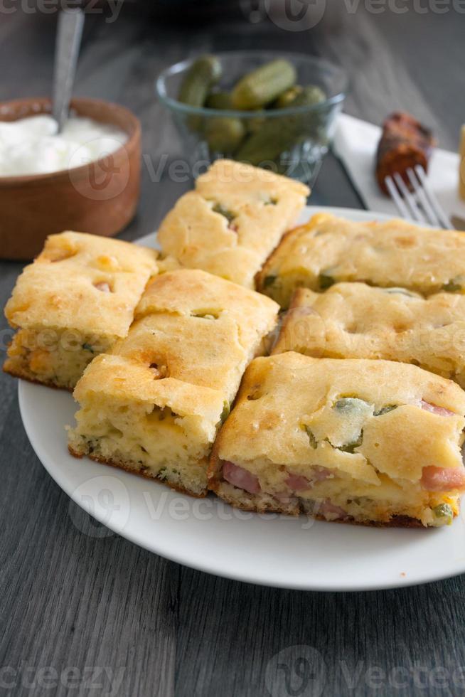 torta de legumes caseira foto