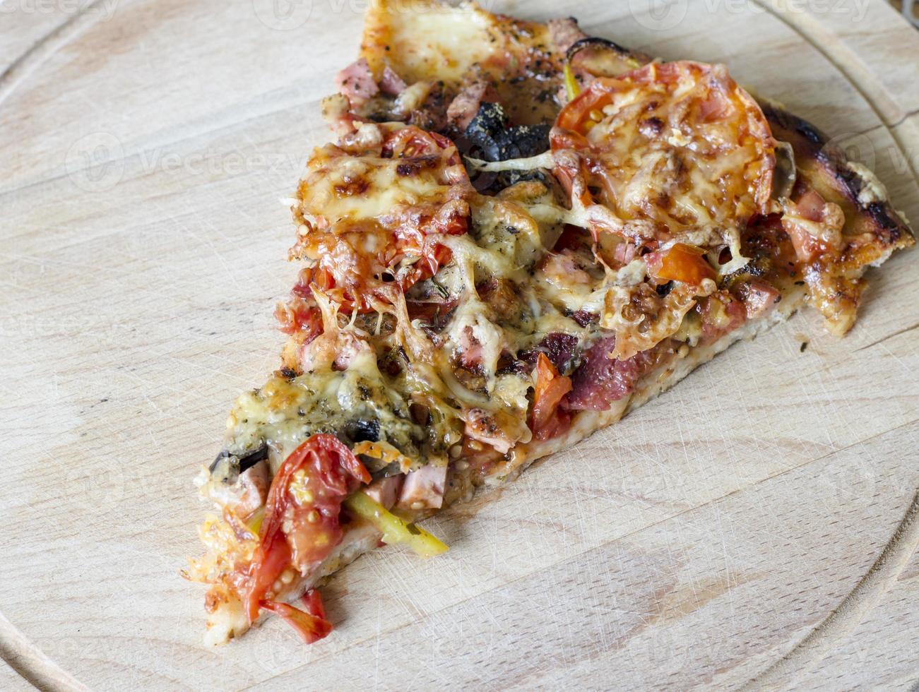 fatia de pizza foto