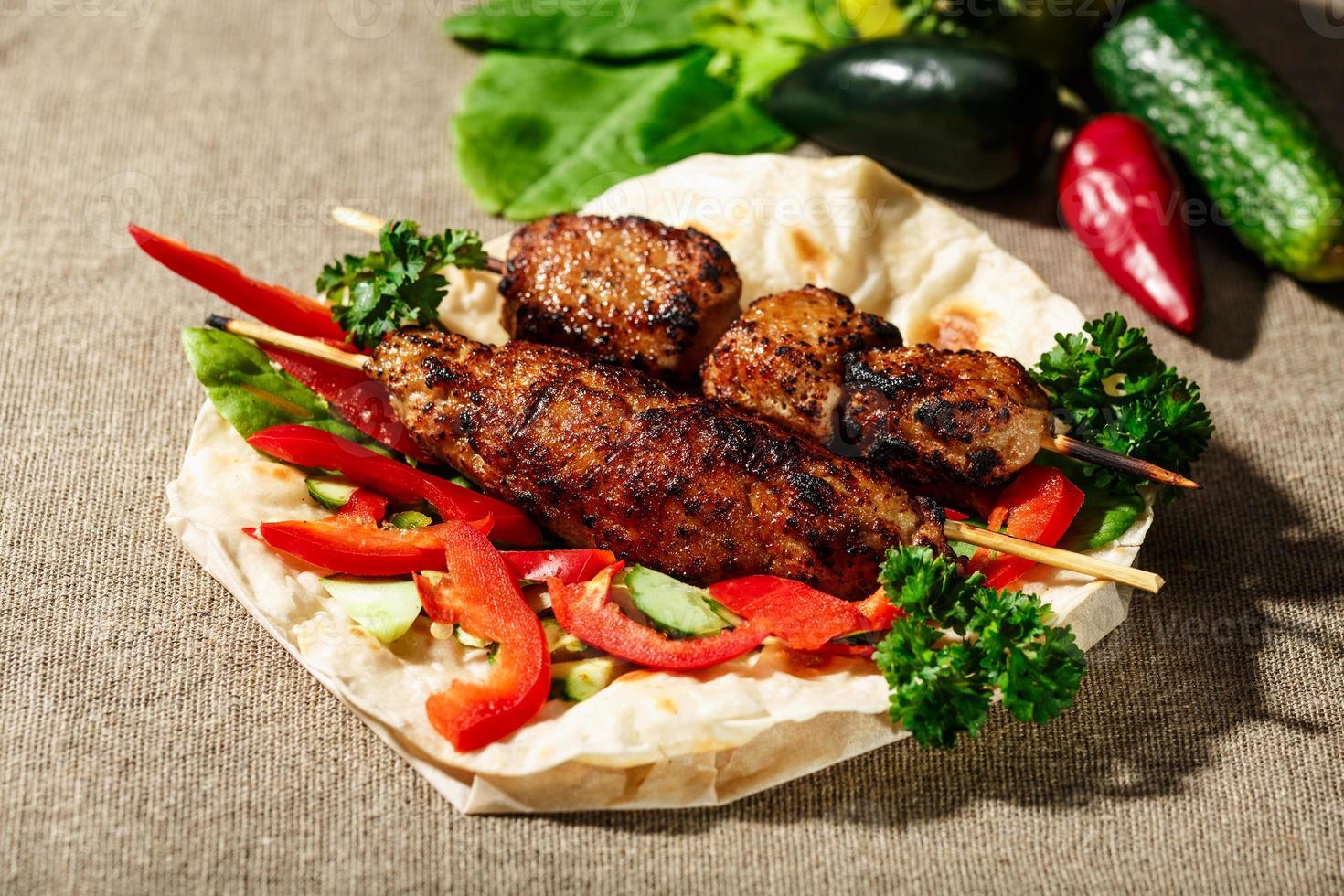 shish kofte kebab foto