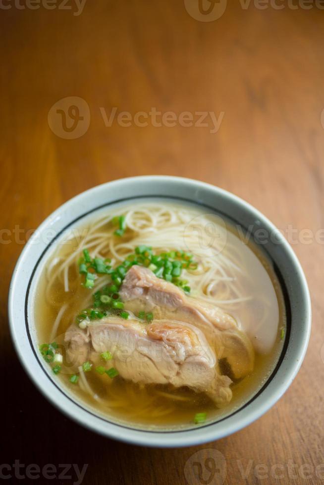 cozinha japonesa nyuumen (sopa de macarrão somen) foto