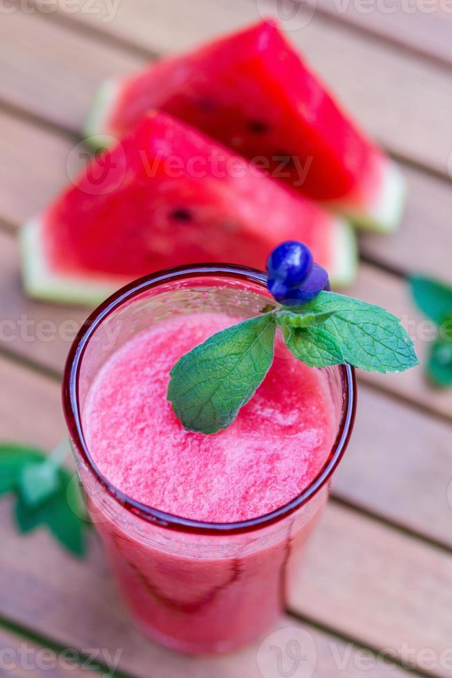 smoothie de melancia foto