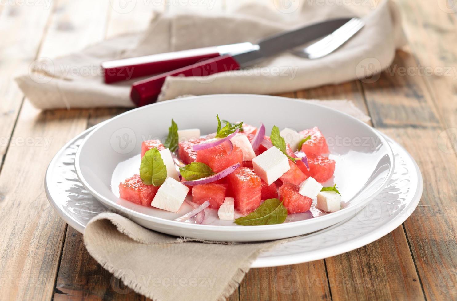 salada de melancia. foto