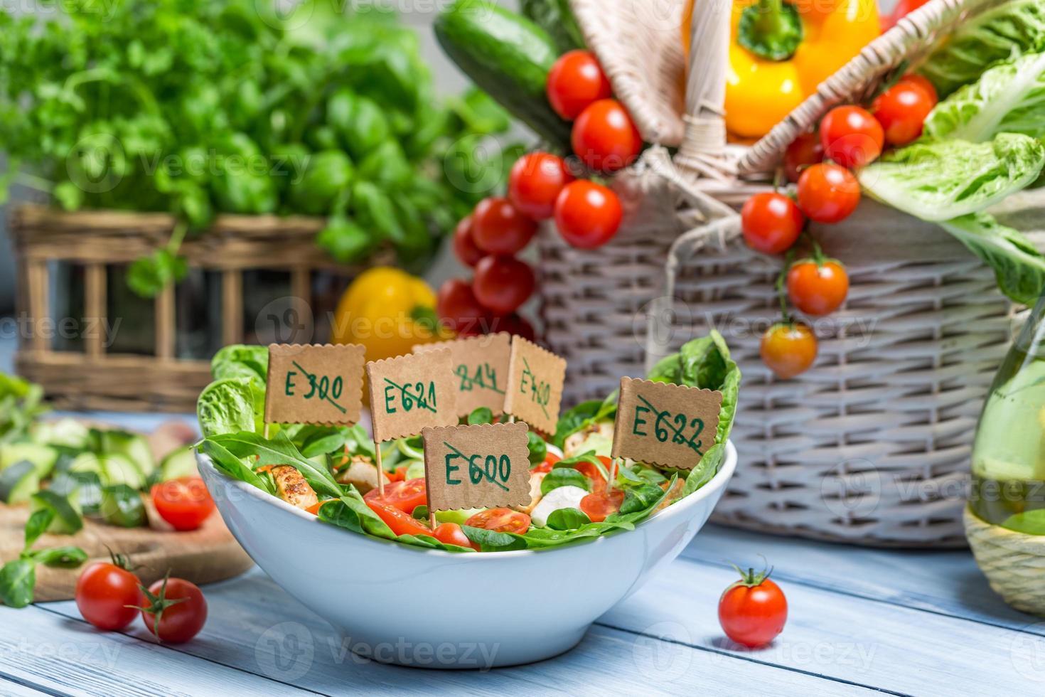 símbolo de comida fresca e saudável foto