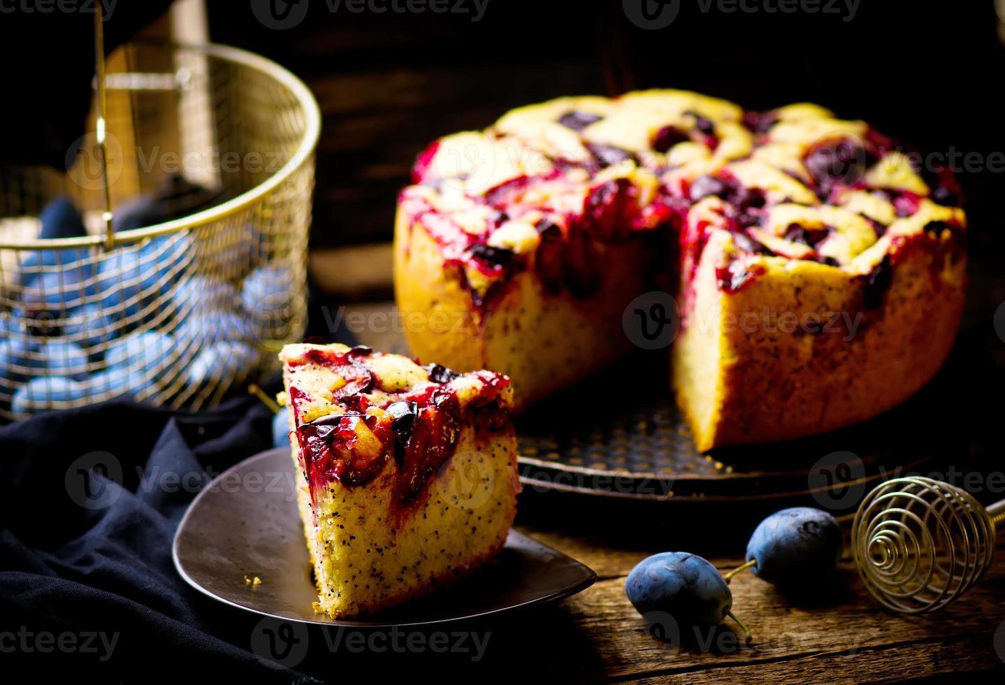 bolo de ameixa caseiro foto