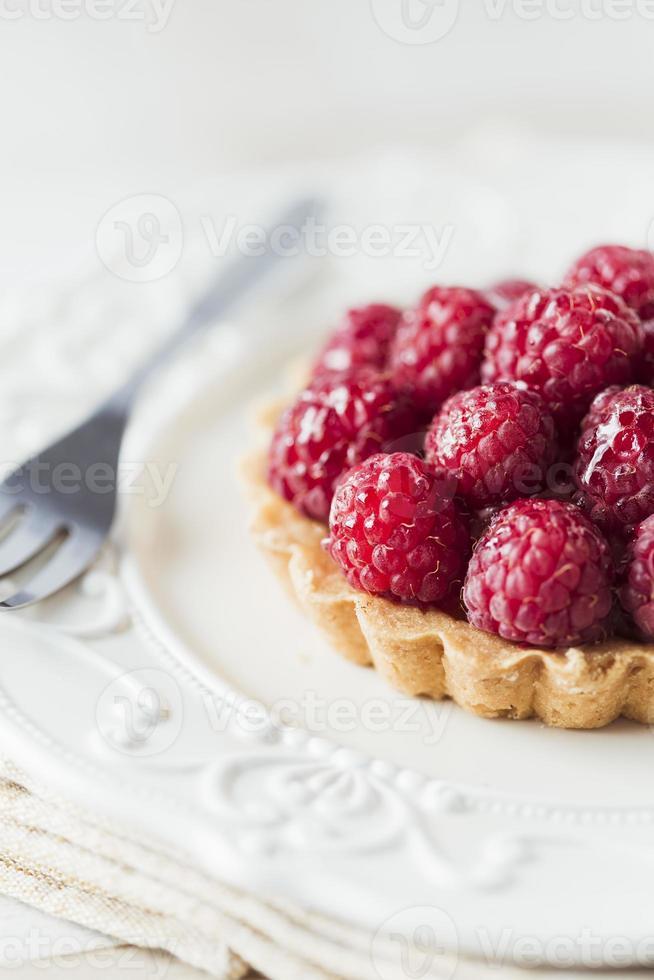 torta de framboesa foto