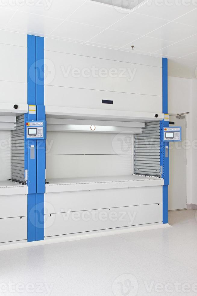 armazém automatizado de alto compartimento foto