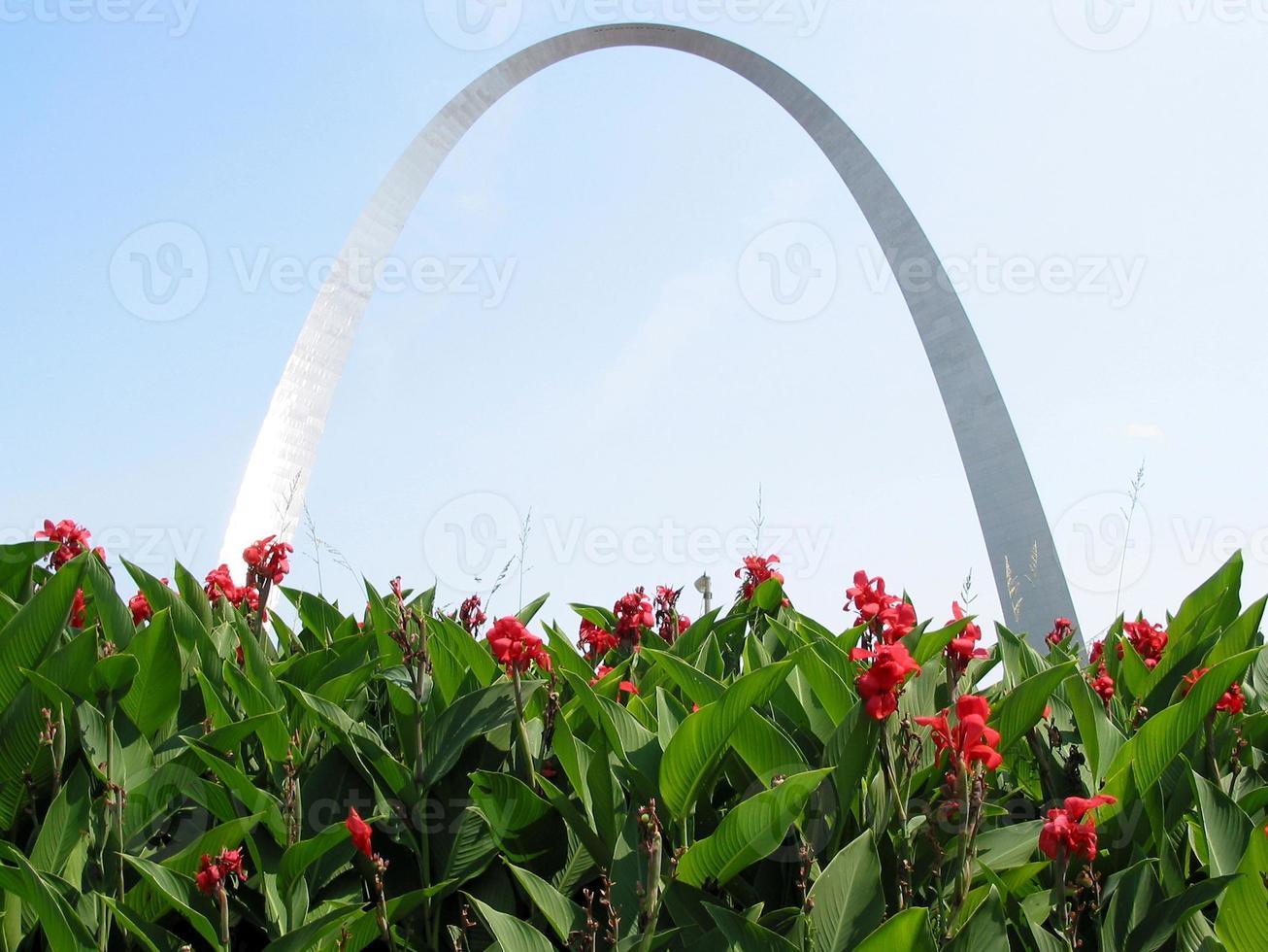 arco sobre flores foto