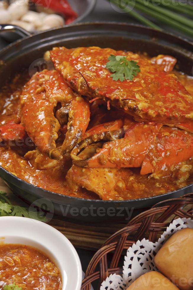 caranguejo de pimenta de cingapura foto